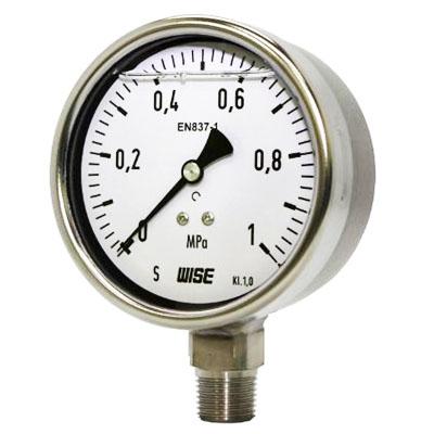 Đồng hồ đo áp suất Wise - Inox có dầu - Model P252
